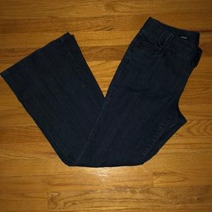 Flared stretchy jeans